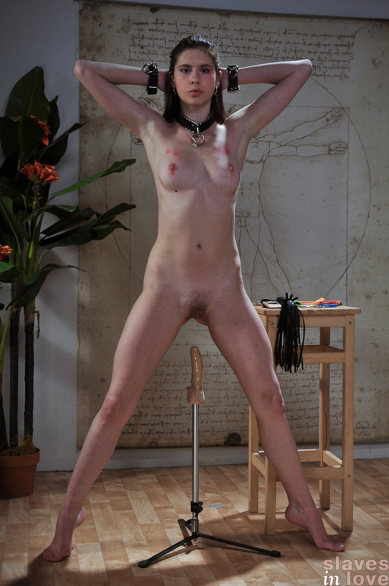 Tied up bdsm sub analized 5
